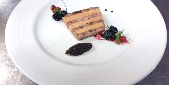 Marbré de foie gras et canard
