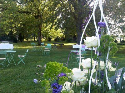 Mariage dans un jardin à Villefranche sur Saône